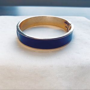 Navy blue and gold bangle